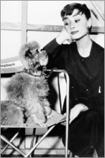 Poster  Audrey Hepburn avec un chien - Celebrity Collection