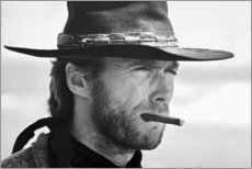Tableau en plexi-alu  Clint Eastwood dans Le Bon, la Brute et le Truand - Celebrity Collection