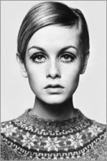 Tableau en verre acrylique  Twiggy - Celebrity Collection