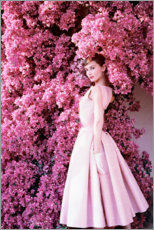 Sticker mural  Audrey Hepburn en robe de soirée - Celebrity Collection