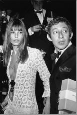 Tableau en bois  Jane Birkin et Serge Gainsbourg - Celebrity Collection