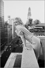 Tableau en bois  Marilyn Monroe à New York - Celebrity Collection