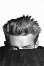 Tableau en bois  James Dean se cache - Celebrity Collection