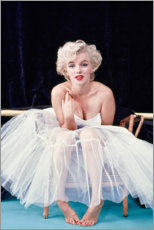 Toile  Marylin Monroe en robe de ballet - Celebrity Collection