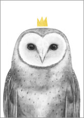 Sticker mural  Hibou royal - Victoria Borges