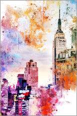 Sticker mural  Collection aquarelle, l'Empire State Building - Philippe HUGONNARD