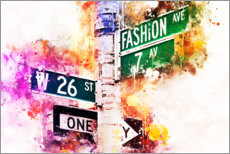 Poster  Collection aquarelle, Fashion Avenue - Philippe HUGONNARD