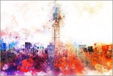 Tableau en PVC  Collection aquarelle, Empire State Building à New York - Philippe HUGONNARD
