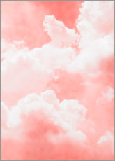 Sticker mural  Nuages roses