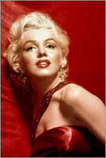 Poster  Marilyn Monroe en robe rouge - Celebrity Collection