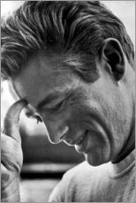 Tableau en aluminium  James Dean souriant - Celebrity Collection