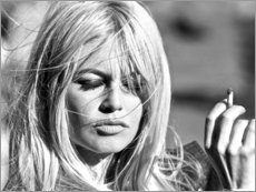 Poster  Brigitte Bardot les cheveux au vent - Celebrity Collection