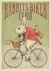 Poster  Rabbits Biker Club - Mike Koubou