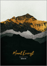 Tableau en bois  Mount Everest - Tobias Roetsch