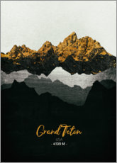 Toile  Grand Teton - Tobias Roetsch