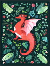 Poster  Dragon tropical - littleclyde