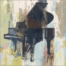 Sticker mural  Piano Bluebird - Studio W-DH