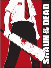 Tableau en plexi-alu  Shaun of the dead - Golden Planet Prints