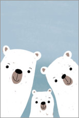 Poster Famille d'ours polaires