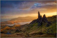 Poster  Old Man of Storr au coucher du soleil - Sebastian Warneke
