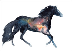 Poster Cheval galaxie
