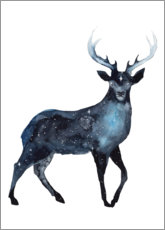 Poster Cerf galaxie