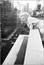 Tableau en PVC  Marilyn Monroe à New York - Celebrity Collection