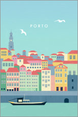 Sticker mural  Illustration de Porto - Katinka Reinke