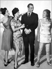 Poster  Eunice Gayson, Zena Marshall, Sean Connery et Ursula Andress