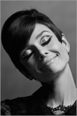 Poster  Audrey souriante - Celebrity Collection