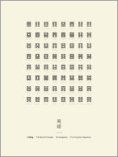 Poster  I Ching Chart With 64 Hexagrams (King Wen sequence) - Thoth Adan