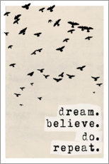 Poster  Dream believe do repeat - treechild