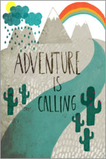 Poster  Adventure is calling - treechild