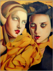 Tableau en PVC  Le foulard orange - Tamara de Lempicka