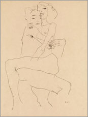 Poster  Couple enlacé - Egon Schiele