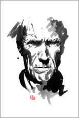 Tableau en aluminium  Clint Eastwood - Péchane