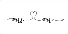 Tableau en plexi-alu  Mrs et Mr - Typobox