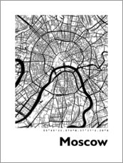 Poster  Plan de la ville de Moscou - 44spaces
