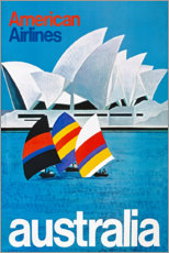 Tableau en verre acrylique  American Airlines, Australie (anglais) - Travel Collection