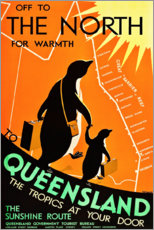 Poster  Queensland (anglais) - Travel Collection