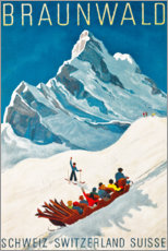 Poster  Braunwald en Suisse - Travel Collection