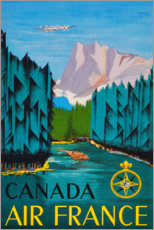 Tableau sur toile  Canada Air France (anglais) - Travel Collection