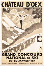 Poster  Château d'Oex, grand concours national de ski - Travel Collection