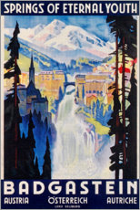 Poster  Bad Gastein, source de la jeunesse éternelle (anglais) - Travel Collection