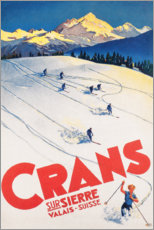 Poster  Ski à Crans-sur-Sierre - Travel Collection
