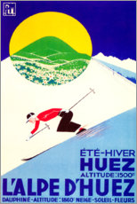 Poster  L'Alpe d'Huez - Travel Collection