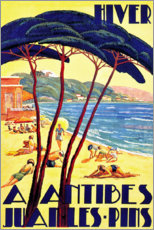 Poster  L'hiver à Antibes - Travel Collection