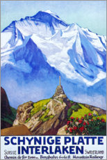 Tableau en verre acrylique  Interlaken, chemin de fer de la Schynige Platte - Travel Collection