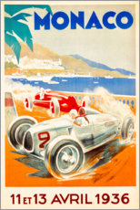 Tableau en plexi-alu  Grand Prix de Monaco, 1936 - Travel Collection
