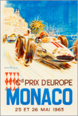 Poster  Grand Prix de Monaco, 1963 - Travel Collection